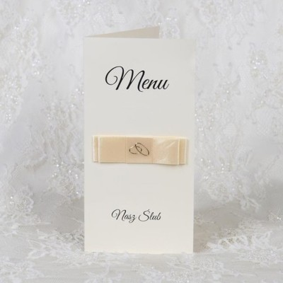 MENU weselne dekoracja stołu NASTRO