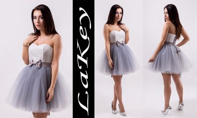 0e727b9abd LaKey SWEET Sukienka Gorsetowa Tiul Wesele 44 - 6224206625 ...
