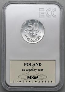 4618. 50 groszy 1984 - GCN MS65