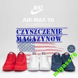 NIKE AIR MAX 90 HYPERFUSE USA MIX KOLOR PROMOCJA