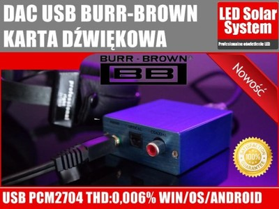 DAC USB BURR-BROWN karta dźwiękowa COAXIAL SPDIF