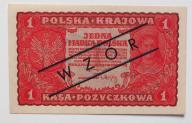 1 mkp  I ser DN 1919 stan  UNC   RARYTAS WZÓR