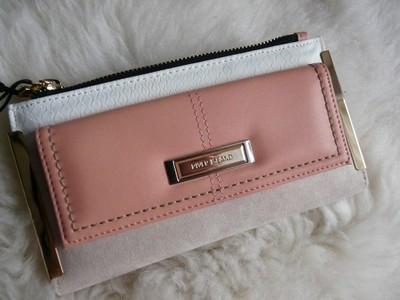 6320a90ea7f32 Portfel RIVER ISLAND beige zamsz pink blush - 6897304384 - oficjalne ...